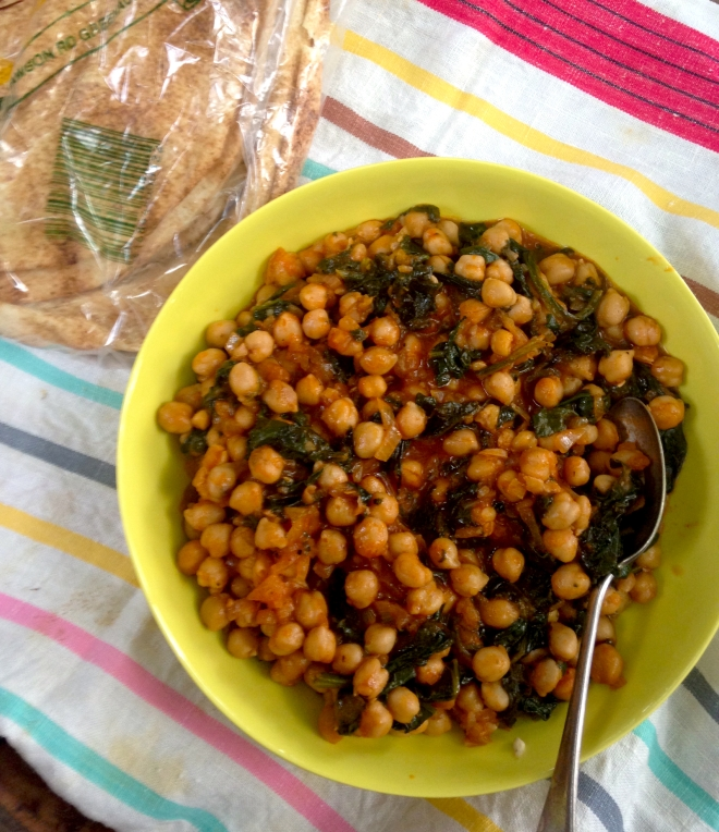 Nivik - Armenian Chickpeas and spinach #vegan #mains