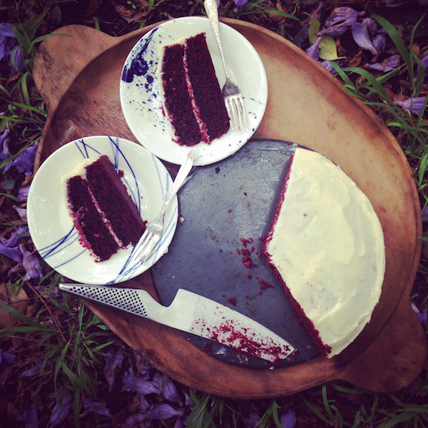 Best red velvet cake with macadamia oil