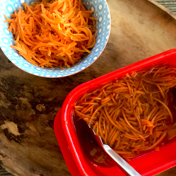 Vietnamese pickled carrots