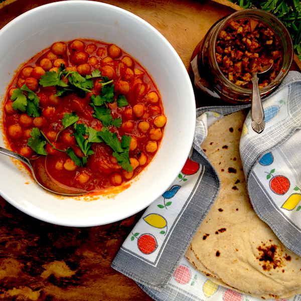 Ketchup chickpea curry #vegan #fast #food