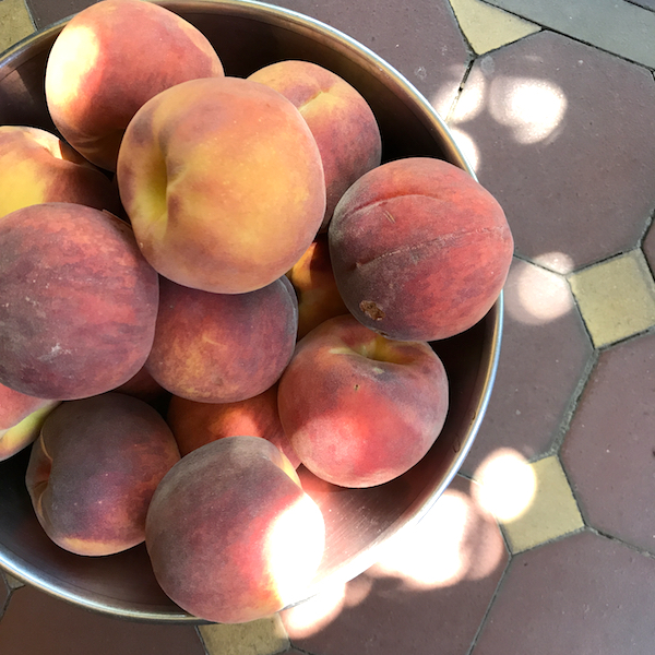 Last of the season peaches
