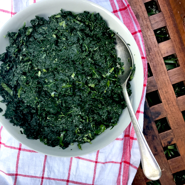 Bihari style spinach - #vegan #Indian