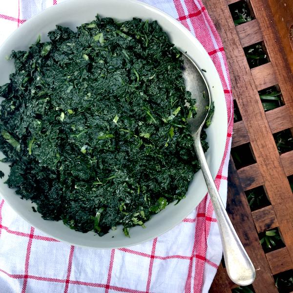 Bihari style spinach - #vegan #Indian