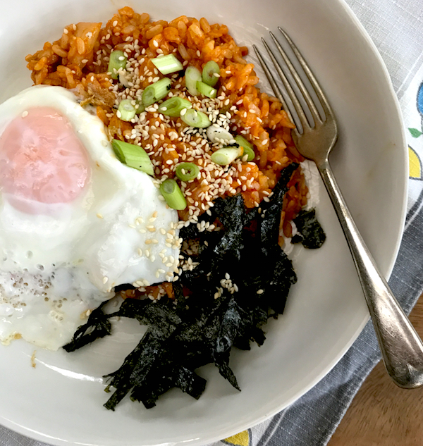 Kimchi fried rice #vegetarian #Korean #food