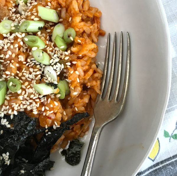 Kimchi fried rice #vegan #korean #food