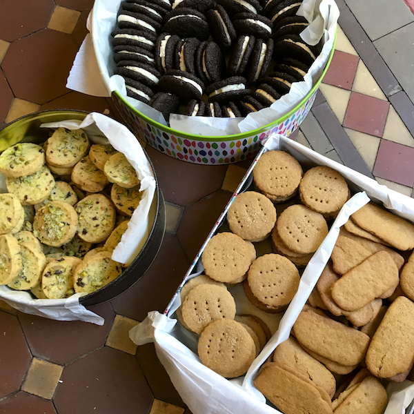 Christmas biscuits - Pistachio &date nankatai, oreos, Graham crackers, spicy Swedish ginger thins,
